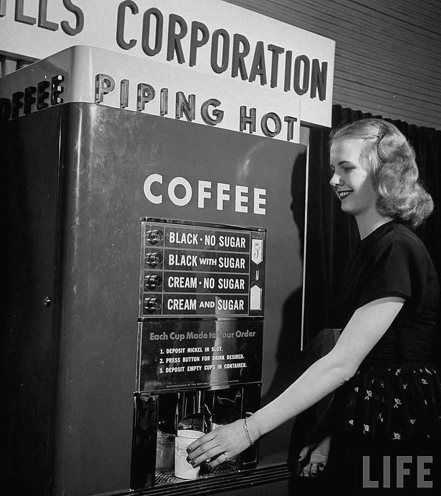 el origen de las máquinas vending
