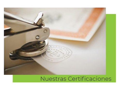 certificaciones C&B señor